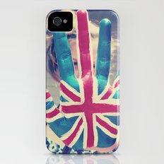 british flag love iPhone (4, 4s) Slim Case