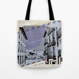 Porto, retro post card Tote Bag