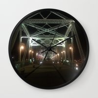 nashville Wall Clocks featuring Nashville Nights by Anthony J. Newton Designs