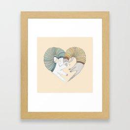 Ferret Sleep Love Framed Art Print