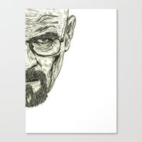 breaking bad Canvas Prints featuring Breaking Bad by Adam McDade