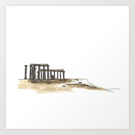 Greek Temple Ruins Art Print