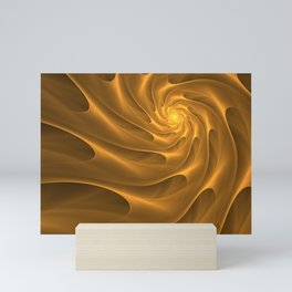Gold Sahara. Hot desert. Sand dunes. Abstract golden spiral Mini Art Print