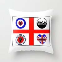 60s Throw Pillows featuring Brit music 60s 70s by MasterChef-FR