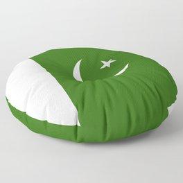 Pakistan flag emblem Floor Pillow