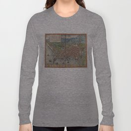 Vintage Map of Naples Italy (1572) Long Sleeve T-shirt