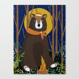 Brown Bear Print Canvas Print