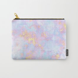Unicorn Rainbow Marble Pattern Carry-All Pouch