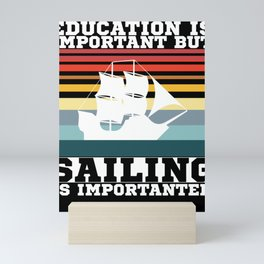 Education Sailing Vintage Mini Art Print