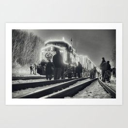 The Canadian Pacific Railway Holiday Train Art Print