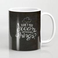 lyrics Mugs featuring LYRICS - Don't you dream by Molly Freze