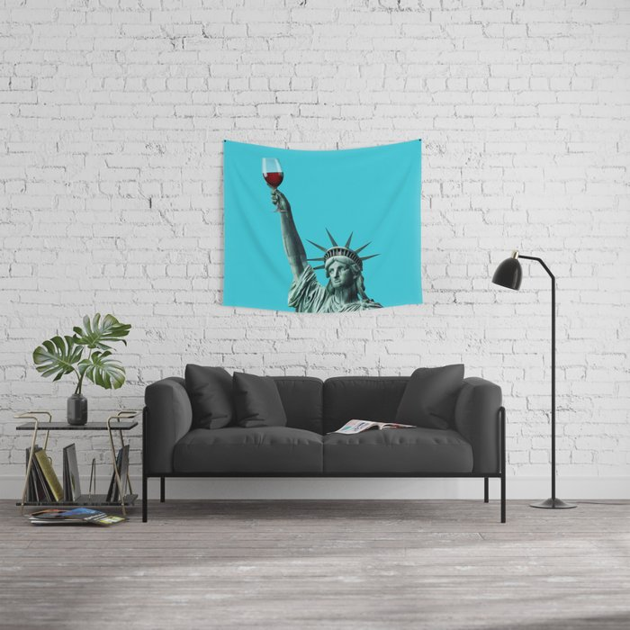 Liberty of drinking Wall Tapestry