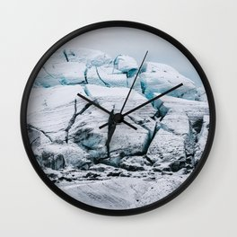 Glacial World of Iceland - Landscape Photography Wall Clock