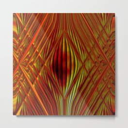 Glass with fire Metal Print