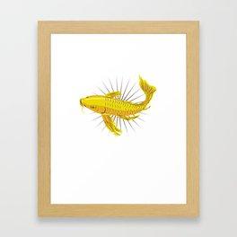 Japanese Koi Fish T-Shirt nishikigoi carp Framed Art Print