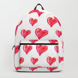 Romantic Red Hearts Backpack