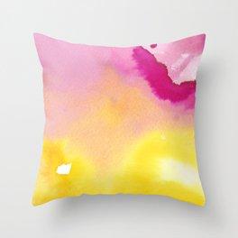 Magical Lemon Raspberry Souffle Throw Pillow