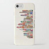 kansas city iPhone & iPod Cases featuring kansas city Missouri skyline by bri.buckley