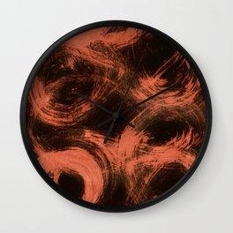Kleinspir, Abstract, Orange Flamengo Wall Clock