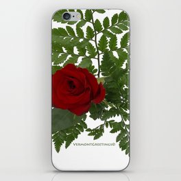 Rose in Winter iPhone Skin