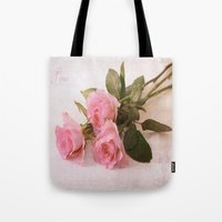 roses Tote Bags featuring Roses by Fine Art by Rina