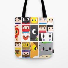 World of Ghibli Blocks Tote Bag
