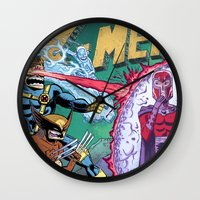 x men Wall Clocks featuring X-Men! by thechrishaley