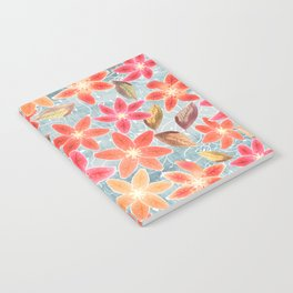 Cute Lilies and Leaves Notebook