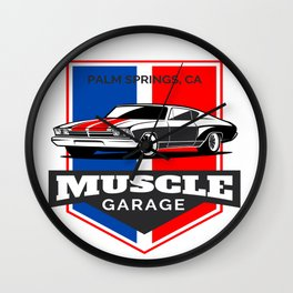 Muscle Car Garage Wall Clock