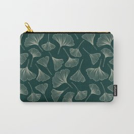 Ginkgo Leaves green Carry-All Pouch