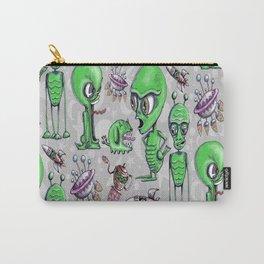 Little Green Men Carry-All Pouch