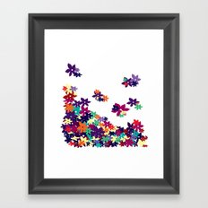 Flowered Up Framed Art Print