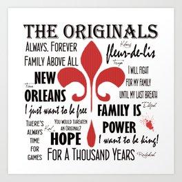 The Originals inspired art print (White) Art Print