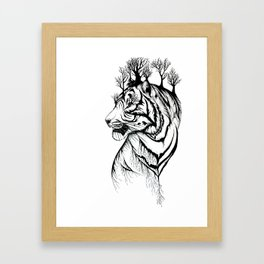Lady Tiger in the Trees Framed Art Print