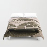 surfer Duvet Covers featuring Surfer Van by Edward M. Fielding