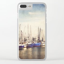 Gulf Coast Shrimp Boats Clear iPhone Case