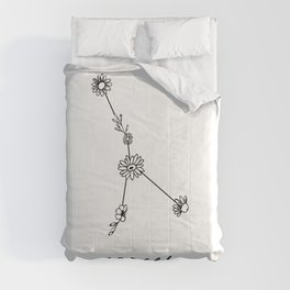 Cancer Floral Zodiac Constellation Comforters