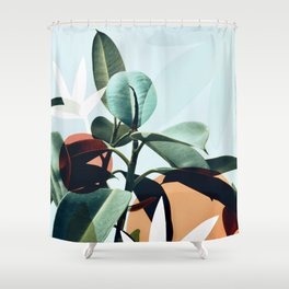 Rubber Plant Shower Curtains
