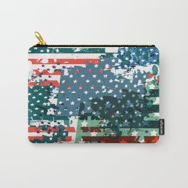 Like an American. USA grunge flag Carry-All Pouch