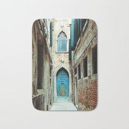Venice Italy Turquoise Blue Door Bath Mat