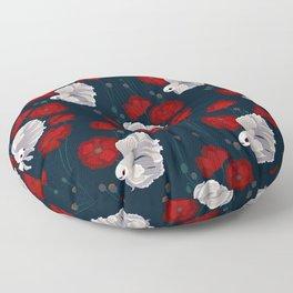 Bettas and Poppies Floor Pillow
