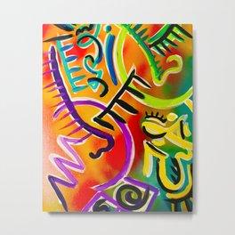 Abstract Couple Metal Print