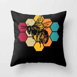 Let It Bee - A Heart For Bees Throw Pillow