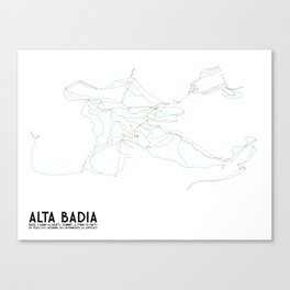 Alta Badia, ITA - NA (Unlabeled) - Minimalist Trail Art Canvas Print