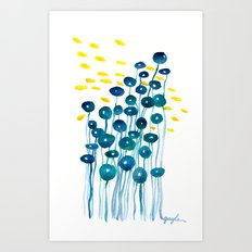 The Mermaid's Wineglasses Art Print