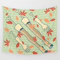 fall Wall Tapestries featuring fall by freshinkstain
