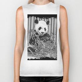 Panda Bear Cutie Biker Tank