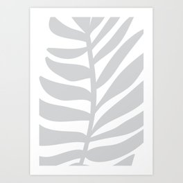 Palm Frond in Gray Art Print