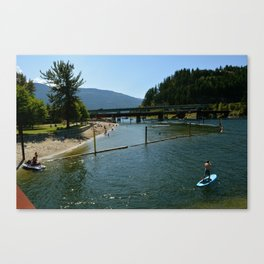paddling in  Canvas Print