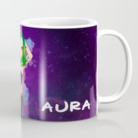 artrave Mugs featuring artRAVE Aura by Aldo Monster